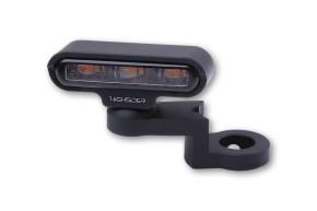 HIGHSIDER LED Blinker mit CNC Spiegelbefestigung TYP 2, schwarz, E-gepr., Paar