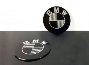 2 BADGES / EMBLEMS BMW 70mm, CNC milled
