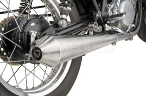 SILENCER f. YAMAHA SR500 (48T), stainless steel with dull finish, e-marked