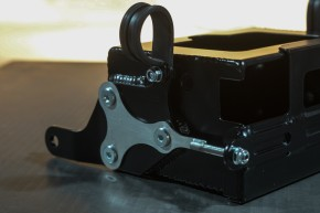 "BATTERY BOX ""Dungeon 1"" by BHCKRT, f. BMW 2-valve models, alloy, black"
