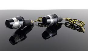 2 Lenkerenden-BLINKER, Aluminium, schwarz, e-geprüft