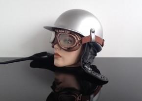 MOTORRADBRILLE f. JET-Helm, braun- / kupferfarben