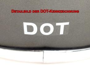 Retro-style CROSS-HELMET, black denim, DOT approved  S