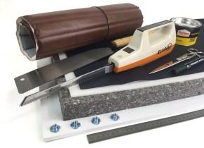 Seat FOAM PLATE high density 8cm + foam sheet, for Scrambler and Enduro