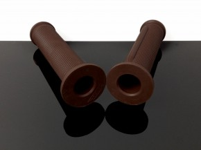 2 ARIETE grips, dark brown