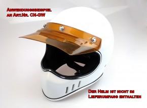 70er Jahre Helm-SCHIRM, Helmschirm für Endurohelm, Crosshelm, Jethelm