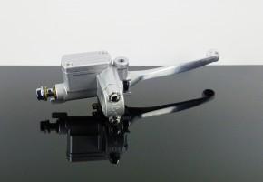 Handbremszylinder, silber / Alu, universal inkl. Spiegelhalterung