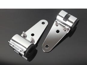 Headlight brackets short for fork Ø 31-36mm, chrome