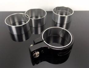 2 CNC Alu-LAMPENHALTER, schwarz, 33mm