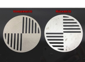2 BADGES / EMBLEMS BMW 70mm, aluminium, lazer cut