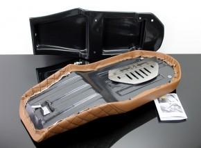 SITZBANK-Set SCRAMBLER für BMW K75 K100 braun