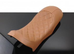 SEAT BMW K75 K100 Cafe-Racer, Diamond-Pattern, brown