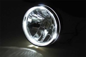 HEADLIGHT, black, with LED ring