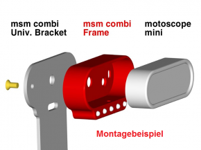 "TACHO-RAHMEN mit Kontrollleuchten ""msm combi frame"" v. MOTOGADGET, Aluminium, poliert"