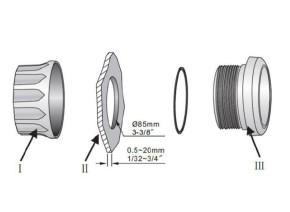 GPS-TACHOMETER 0-200km/h mit LED-Kontrollleuchten Ø 85mm