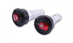 HIGHSIDER HIGHSIDER handlebar weights ENTERPRISE-EP1, black with insert dark red
