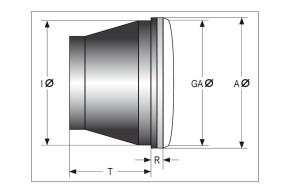HIGHSIDER LED main headlight insert TYP 7, chrome reflector