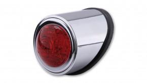 SHIN YO LED-Rücklicht OLD SCHOOL TYP1, chrom, rotes Glas, E-gepr.