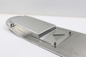 SITZBANKGRUNDPLATTE, Sitzbankplatte, f. BMW 2-Ventiler, Aluminium