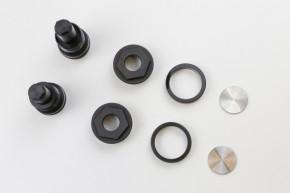 2 PRELOADEINSTELLER, 38,5mm, f. BMW R65 /80 /100, Aluminium, schwarz