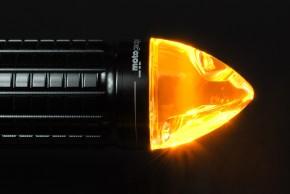 "handlebar end LED-INDICATOR, ""m.blaze cone"" by MOTOGADGET, black anodized aluminium, right"