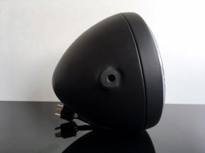 Scheinwerfer, matt schwarz, mit LED Standlichtring