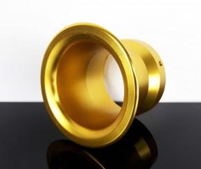 ANSAUGTRICHTER aus Aluminium, 50mm Anschlussweite, golden