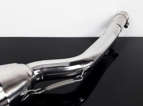 """2* AUSPUFF """"Gunball"""" v. Hattech, Edelstahl poliert, m. EG-ABE, f. BMW R-Modelle """"Monolever"""""""