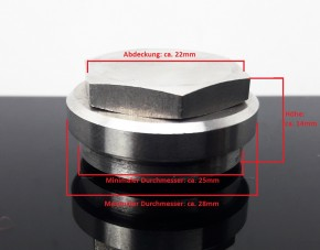 SCREWED COUPLING to weld in / CONNECTION f. Lambda oxygen sensor, stainless steel