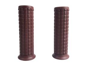 "2 GRIPS, Custom- / Old-Style, brown, f. 1"" handlebars"
