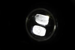 LED-SCHEINWERFER mit Standlichtring von HIGHSIDER, schwarz, E-gerüft