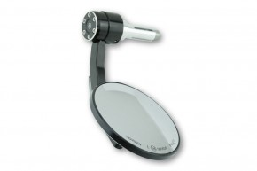 HIGHSIDER Handlebar end mirror CONERO with LED indicator, black