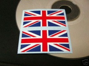 2* UNION JACK-/England-AUFKLEBER (sticker/transfer) !