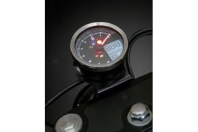 Digitales Multifunktions-COCKPIT von KOSO, TNT-04 Drehzahlmesser /Tachometer mit verchromtem Ring