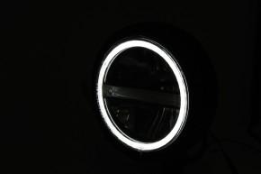 HIGHSIDER 5 3/4 Zoll LED-Scheinwerfer PECOS TYP 6 mit TFL, schwarz matt