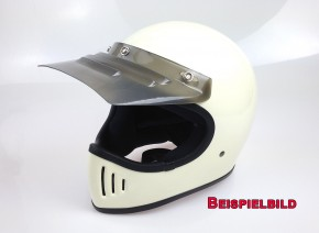 Shield, VISOR for retro cross-helmet, (grey)