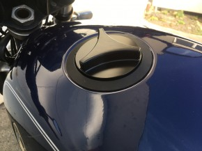 """Alu-TANKDECKEL """"Propeller"""" f. BMW R-Modelle, schwarz eloxiert"""