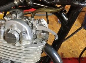 Decompression lever, SR500 XT500 SR400, engine-mounted