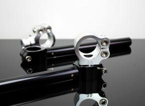 Cafe-Racer STUMMELLENKER Lenkerstummel 35mm, CNC-gefrästes Aluminium, einstellbar, schwarz