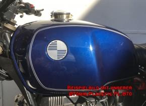 2 BADGES / EMBLEMS BMW 60mm, aluminium, lazer cut
