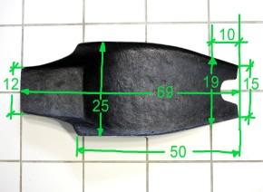 Flat Track-/Street Tracker SITZBANK, komplett, universal, schwarz