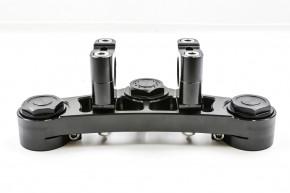 GABELBRÜCKE f. BMW 2-Ventiler R80 / R100 mit 38,5 mm Gabelstandrohren, Aluminium, schwarz, inkl. Gutachten