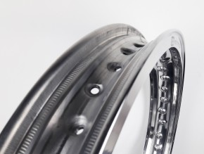 """HOCHSCHULTERFELGE, Hinterradfelge, 18"""" x 2,15 (WM3), für 40 Speichen, Aluminium hochglanzpoliert"""