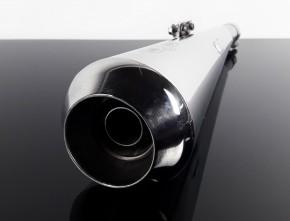 """2* AUSPUFF """"Gunball"""" v. Hattech, 35mm, Edelstahl, m. EG-ABE, f. BMW R 45 / R 65"""