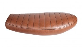 Cafe-Racer, Scrambler SEAT, SR 500, brown leather, black stitching
