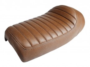 Cafe-Racer SEAT, vintage brown, fits BMW custom subframes (HR-BD/BM/BP)