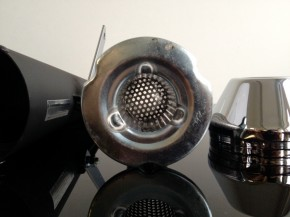 Megaphone - Exhaust in dull black, chromed cap