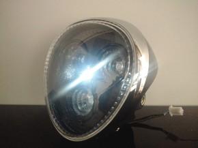 LED-SCHEINWERFER, Chromring, Gehäuse schwarz