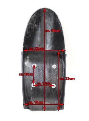 Cafe-Racer SEAT black, fits BMW-Rear Frames HR-CM and HR-CD