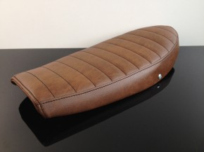 Cafe-Racer SEAT, SR 500, darkbrown leather, with pillion cover